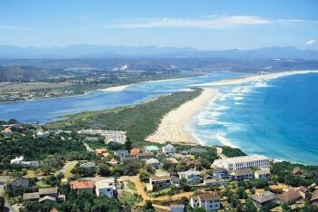 Out beach and the Keurboomsrivier beyond at Plettenberg Bay, Garden Route