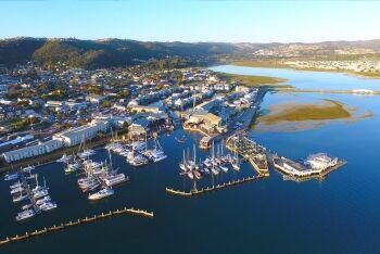Aerial View of the Knysna Waterfront, Knysna, Garden Route