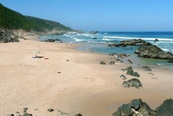 Keurboomstrand looking towards Brackenburn Private Nature Reserve, Garden Route